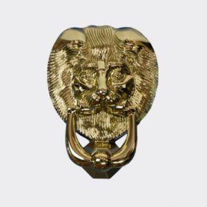 Door Knocker Gold Lion