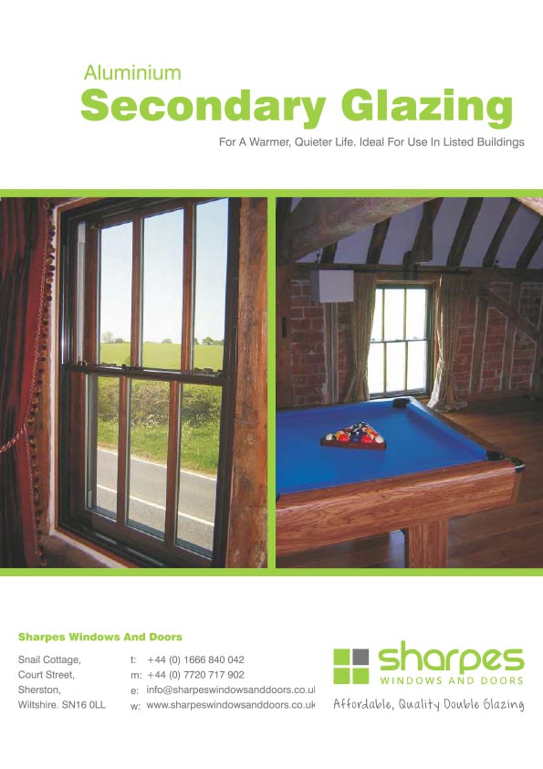 Aluminium Secondary Glazing