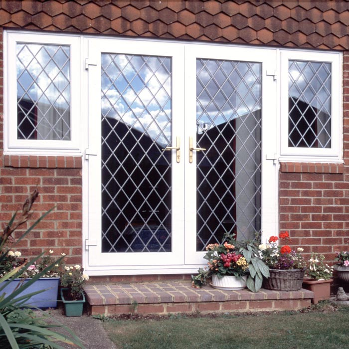 Upvc internal exterior french doors sharpes windows for Reclaimed upvc french doors